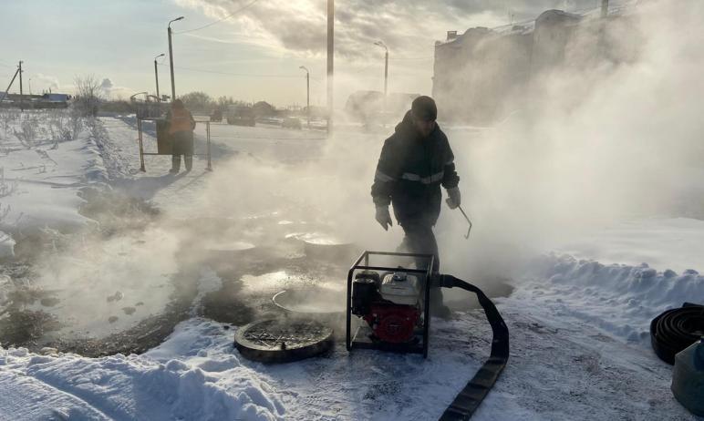 Теплоснабжение жилых домов и социальных объектах в Чурилово (Челябинский городской округ), прерва