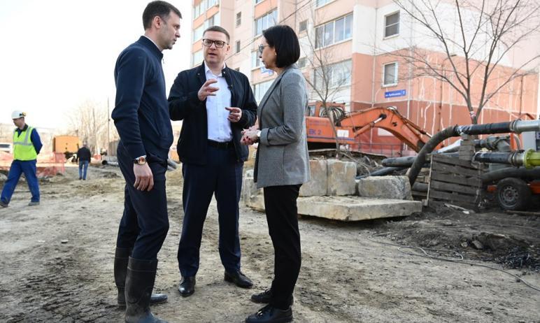 В Челябинске на улице Куйбышева, где произошел
