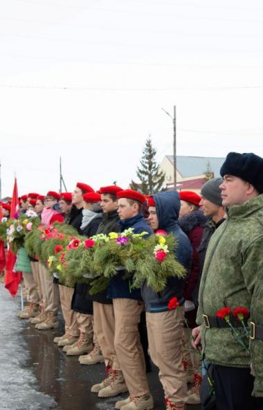 Челябинская область принимает «Эстафету Победы». Передача символа Эстафеты состоялась в поселке Ц