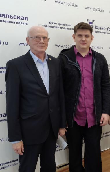 Президент Южно-Уральской торгово-промышленной палаты Федор Дегтярев и председатель комитета ЮУТПП