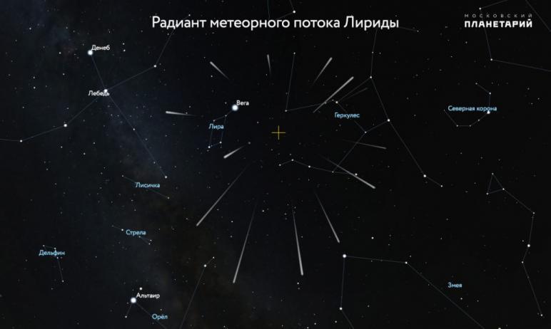 В апреле у наблюдателей звездного неба появилась возможность загадать желание, увидев «падающую з