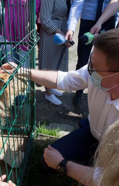 Губернатор Челябинской области Алексей Текслер посетил приют для диких животных и птиц «Спаси мен