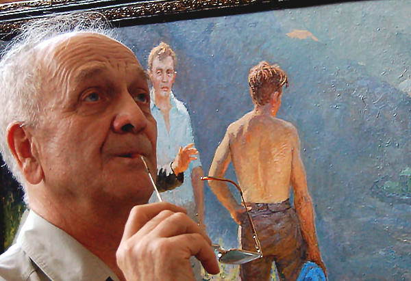 Художник родился вырос в Миассе, в разные годы и в разные времена года – всегда приезжал сюда на