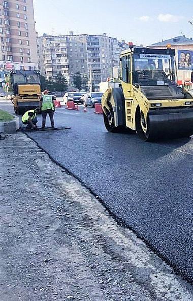 В Челябинске компания «Нижавтодорострой» завершила работы на улицах Худякова, Доватора, Университ