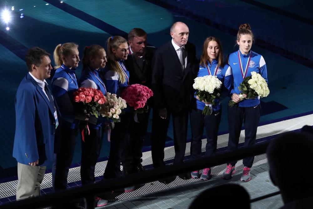 Участников соревнований на торжественной церемонии открытия приветствовал губернатор Борис Дубров