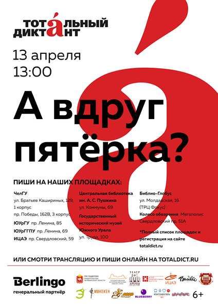 Государственный исторический музей Южного Урала в следующую субботу, 13 апреля, в четвертый раз п
