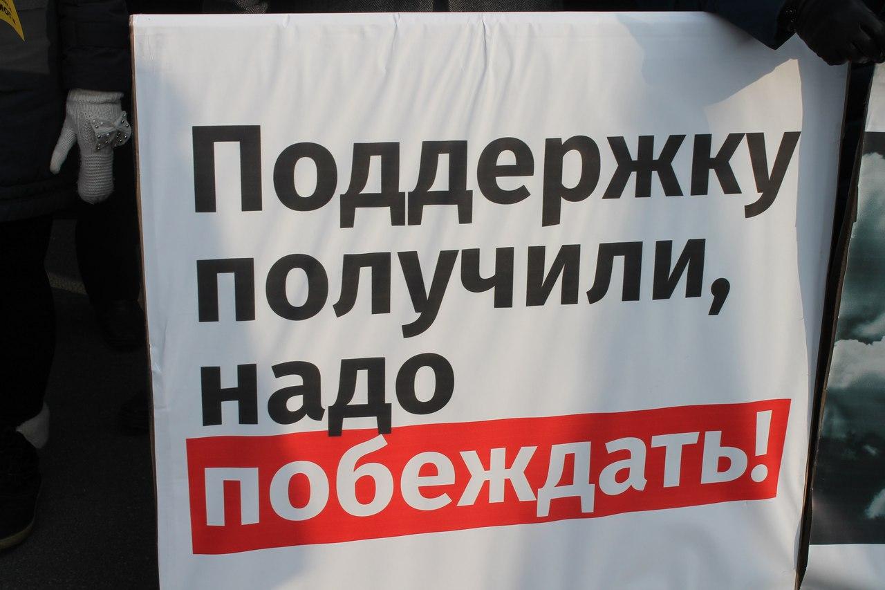 Митинг организован общественным движением СТОП ГОК, выступающим против строительства Томинского г
