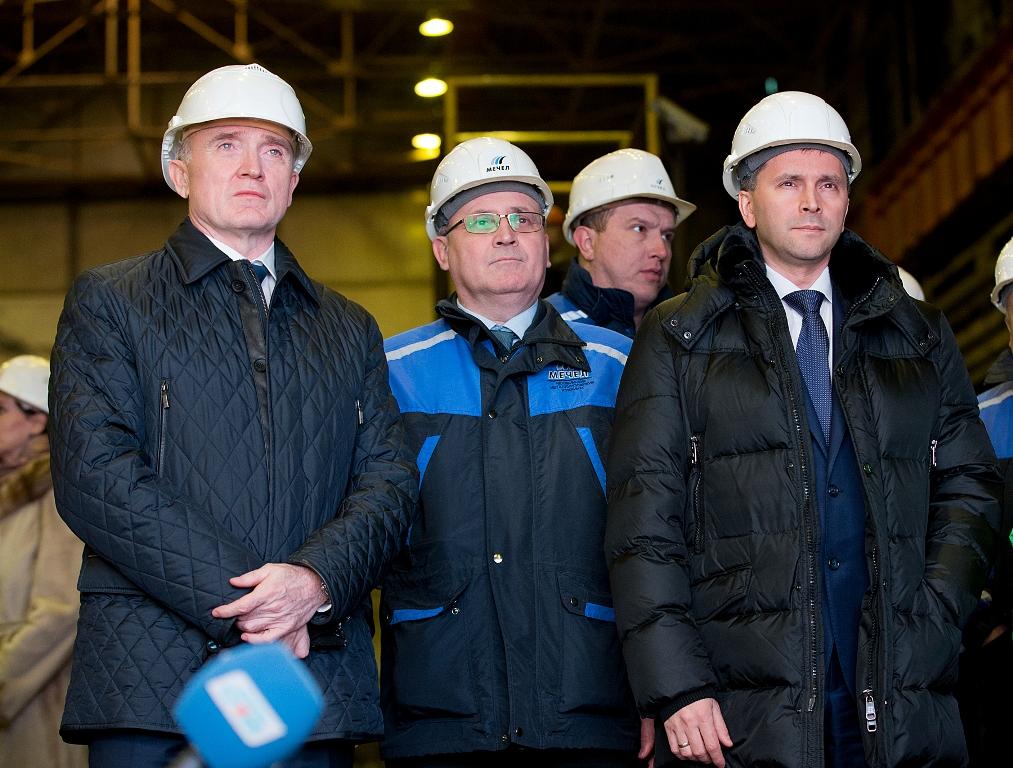 Челябинские предприятия промышленной площадки Группы «Мечел» посетили с рабочим визитом министр п