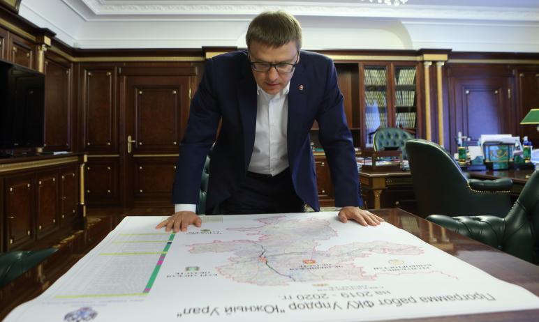 Работы по реконструкции федеральной трассы М-5 «Урал» на территории Челябинской области в направл