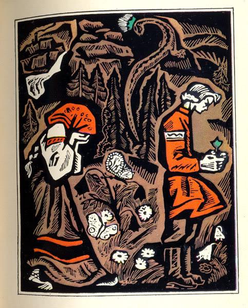 В Бажовской энциклопедии, есть и такая, в статье про художников, иллюстрировавших его сказы, узна