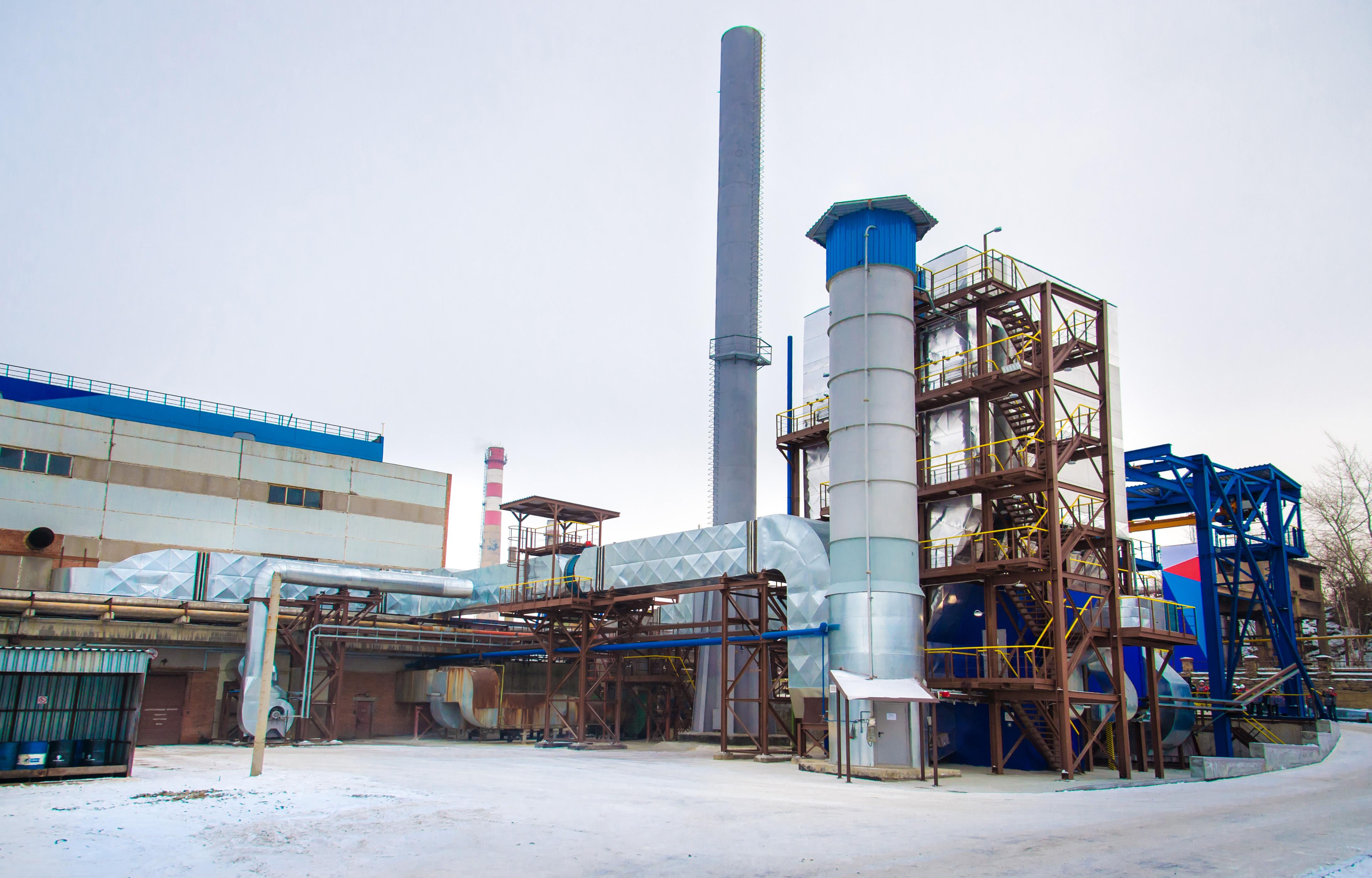 Современный газоочистной комплекс медеплавильной печи - рукавный фильтр LÜHR (Германия) - введен