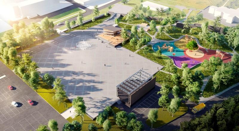 Новая центральная площадь появится в Карабаше (Челябинская область). Проект ее разработала Русска