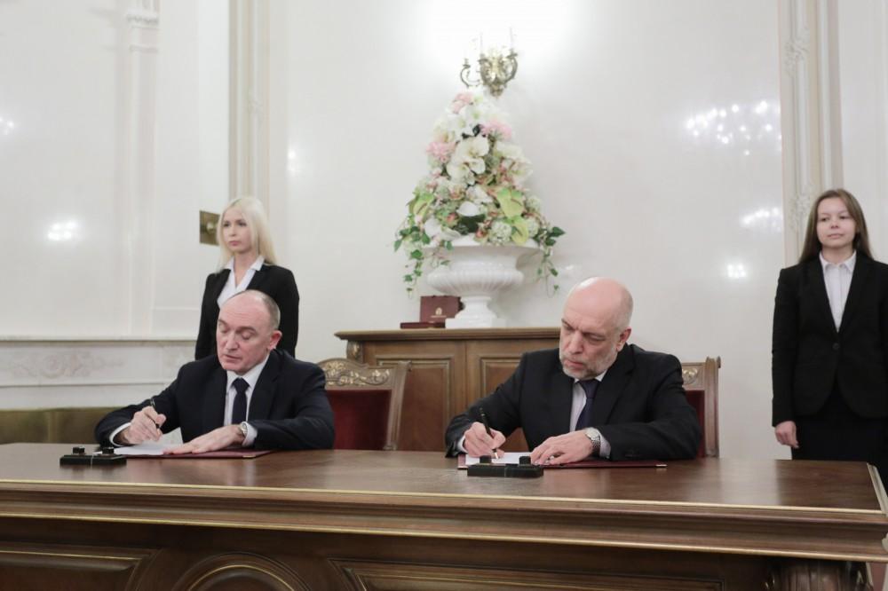 Подписи под документом поставили губернатор Челябинской области Борис Дубровский и генеральный ди