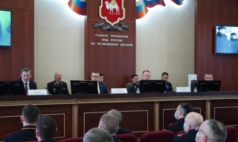 В региональном полицейском главке состоялось расширенное заседание коллегии, на котором были подв