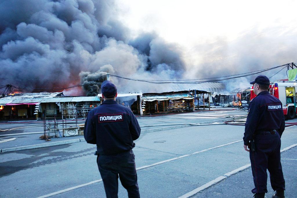 В Магнитогорске (Челябинской области) организована проверка по факту крупного пожара на Центральн