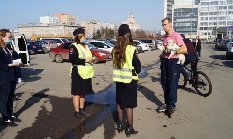 Сотрудники ГИБДД Челябинска совместно с молодежным активом провели агитационную акцию «Безопаснос