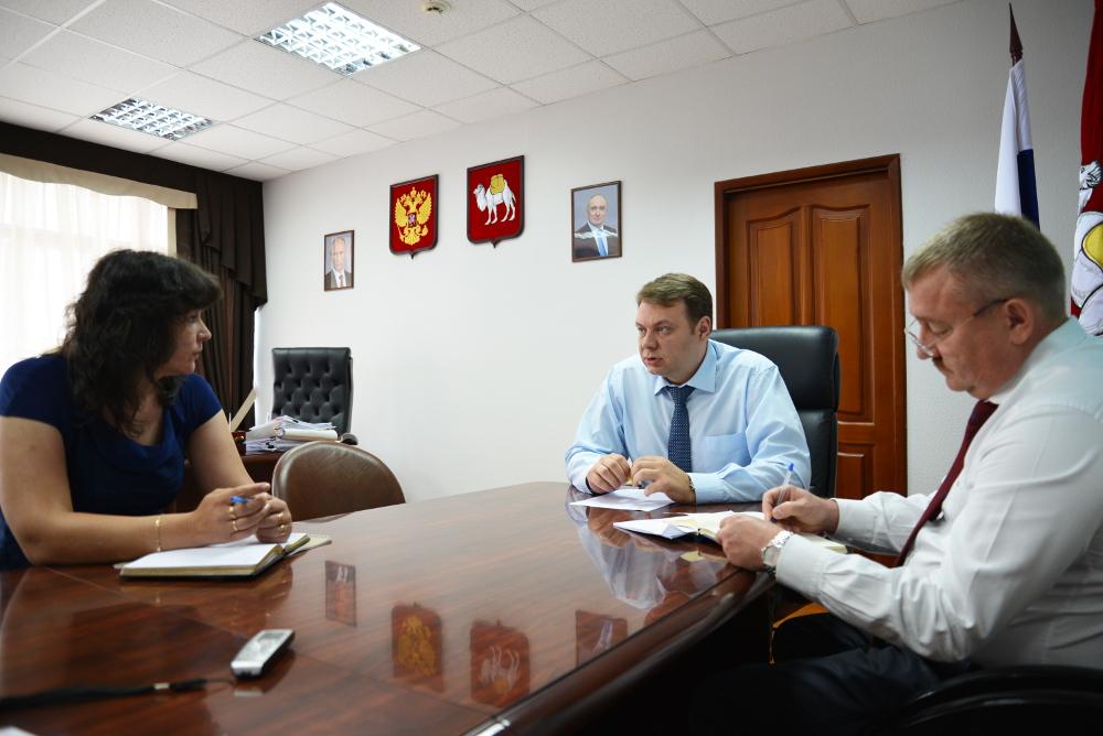 Министр промышленности и природных ресурсов Челябинской области Алексей Бобраков встретился сегод