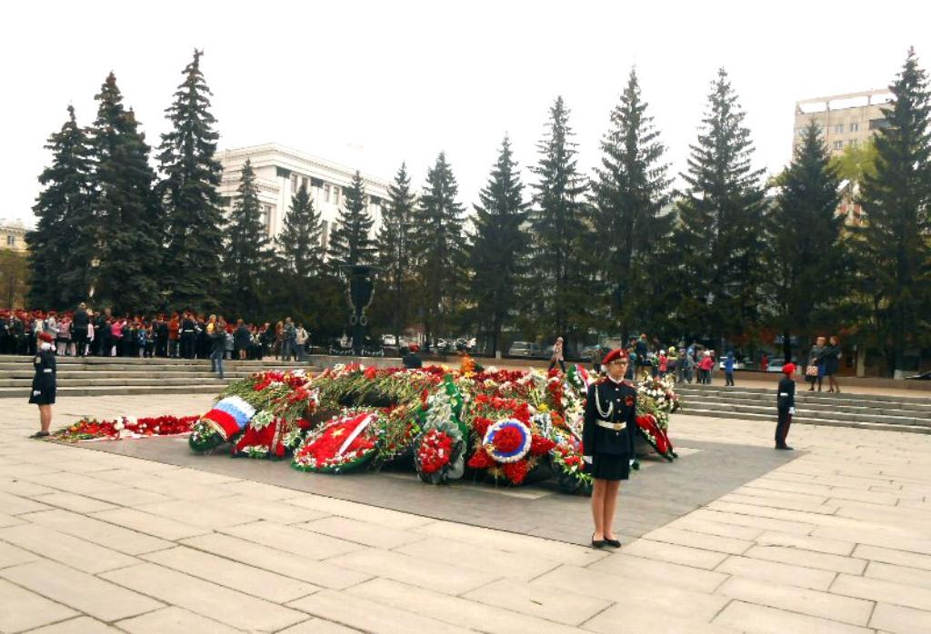 В Челябинске накануне 73-й годовщины Победы в Великой Отечественной войне команды 14-ти образоват
