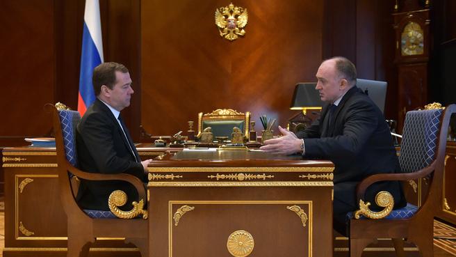 Губернатор Челябинской области Борис Дубровский доложил председателю правительст
