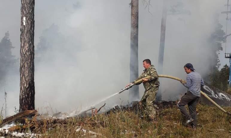 Сотрудники горнолыжного курорта «Солнечная долина» (Миасс, Челябинская область) помогли огнеборца
