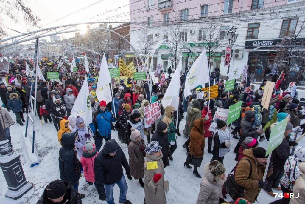 В Челябинске вчера, 23 декабря, на пешеходной части улицы Кирова состоялся марш матерей. Мирная а