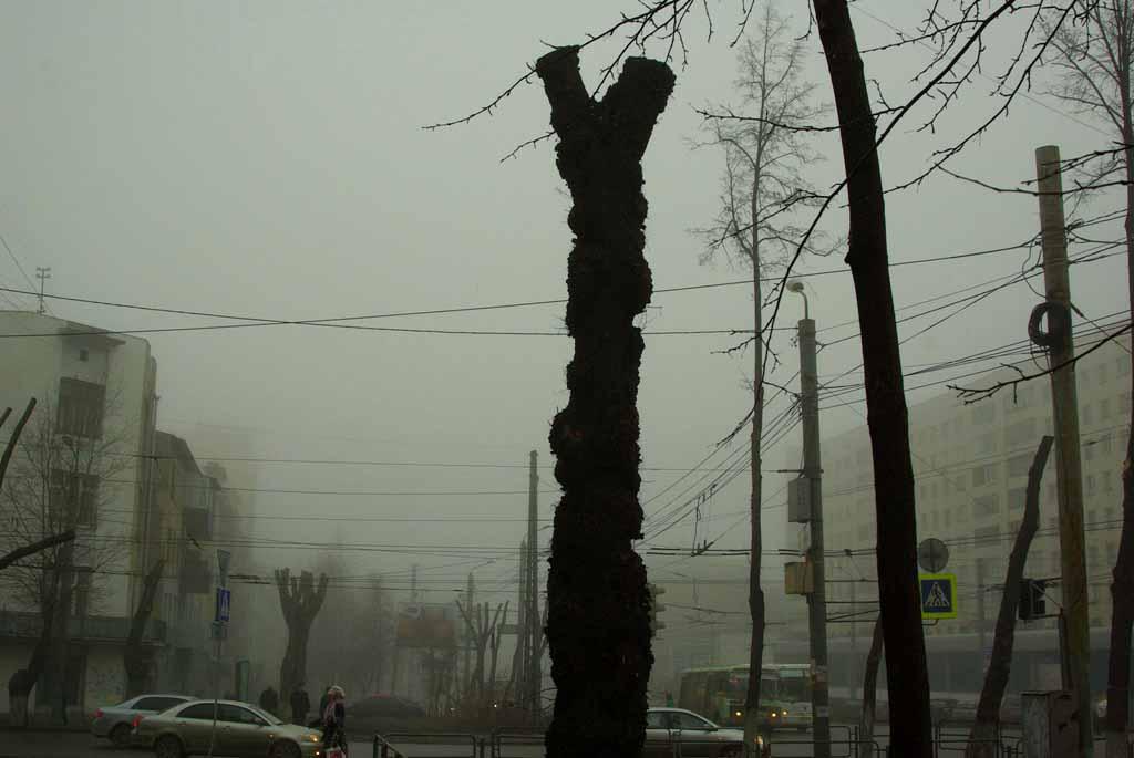 У Челябинска появилась еще одна примета – чернеющие на фоне яр