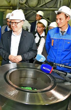Завод «Уральская кузница» (ПАО «Уралкуз», входит в Группу «Мечел») посетил врио губернатора Челяб
