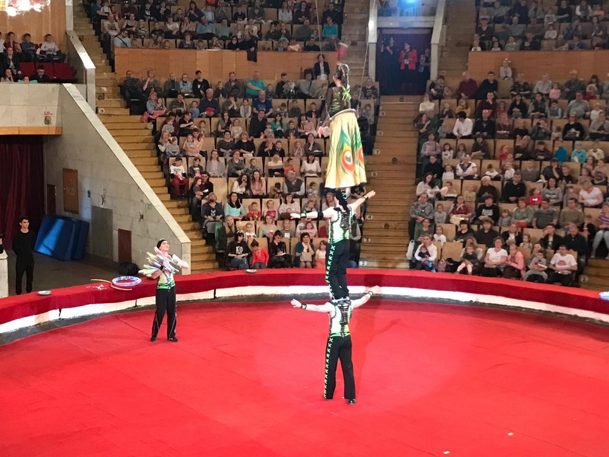 В минувшую субботу, 27 апреля,приехавший из Германии цирк братьев Гертнер порадовал зрителей свое