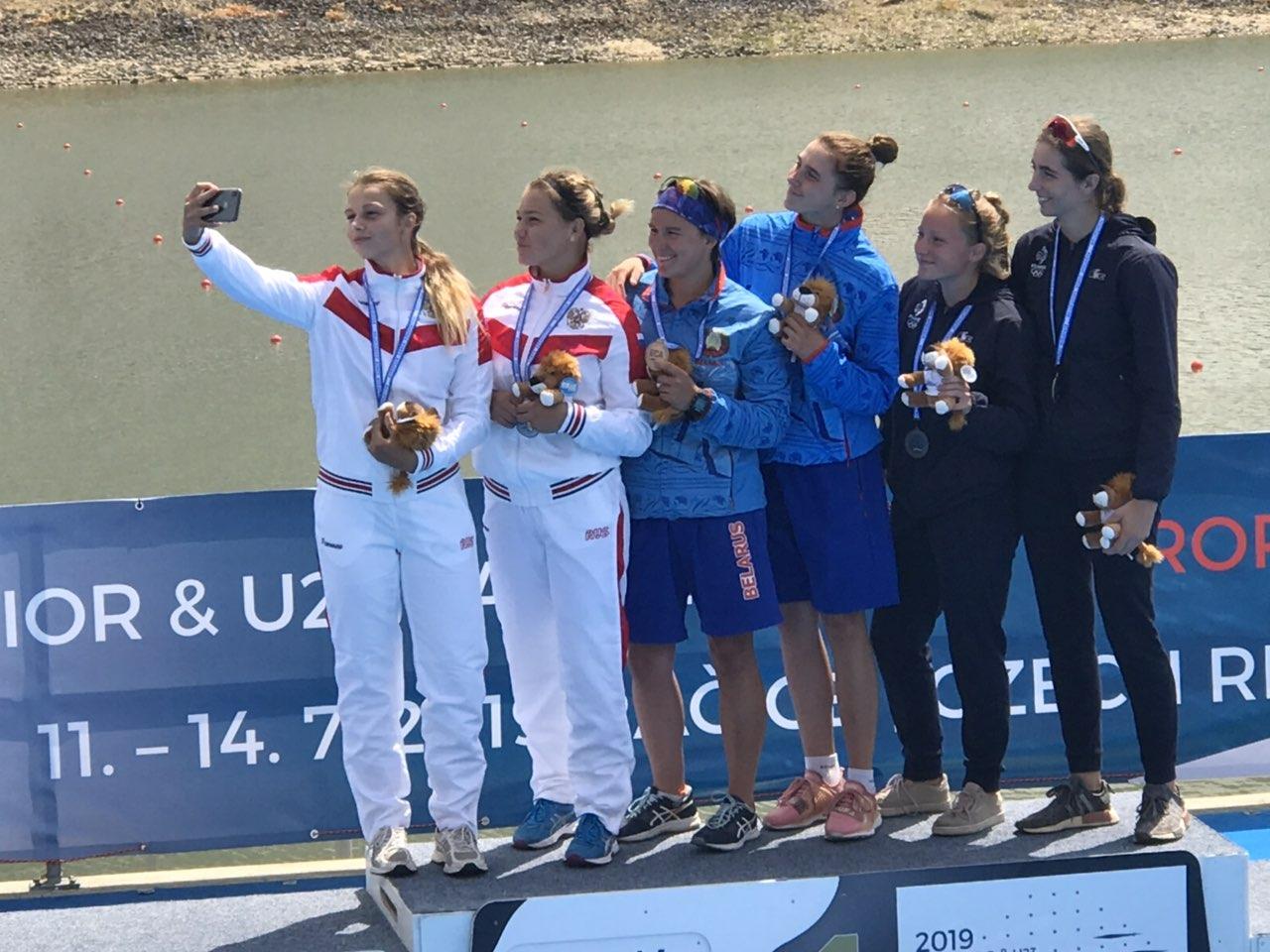 Южноуральская спортсменка Анна Князева завоевала серебряную медаль в первенстве Европы по гребле