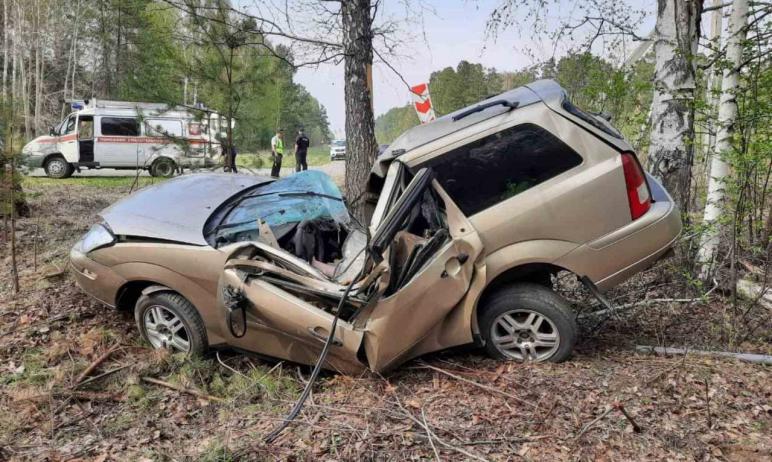В Снежинске (Челябинская область) 42-летний бесправный водитель автомобиля Ford Focus на повороте