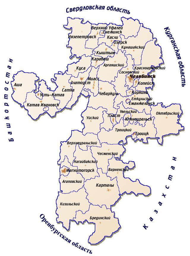 В этом году на публичной кадастровой карте «Росреестра» появятся границы между Челябинской и двум