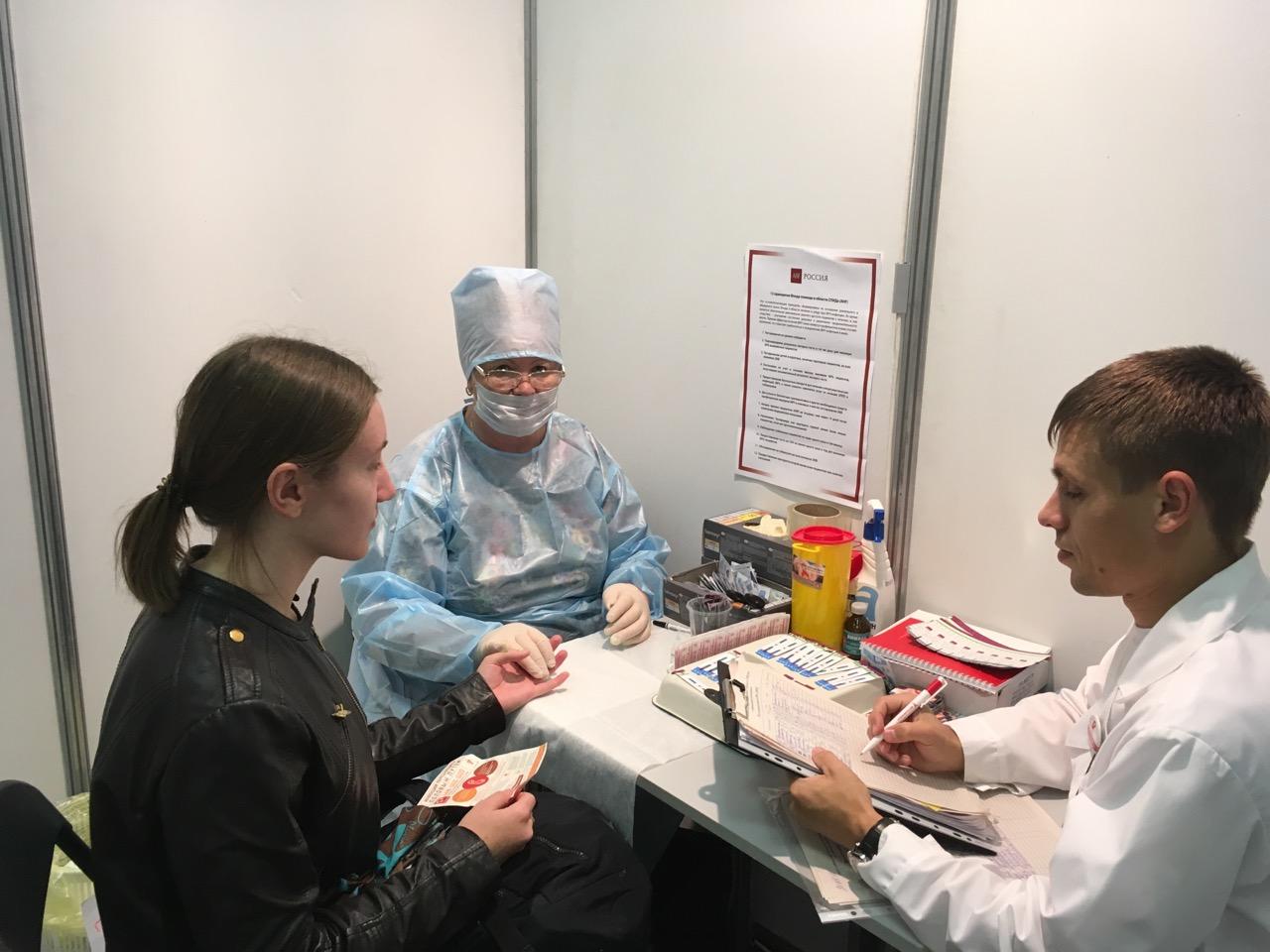 Почти три тысячи челябинцев узнали о своем ВИЧ-статусе в пункте экспресс-тестирования в ТРК «Куба