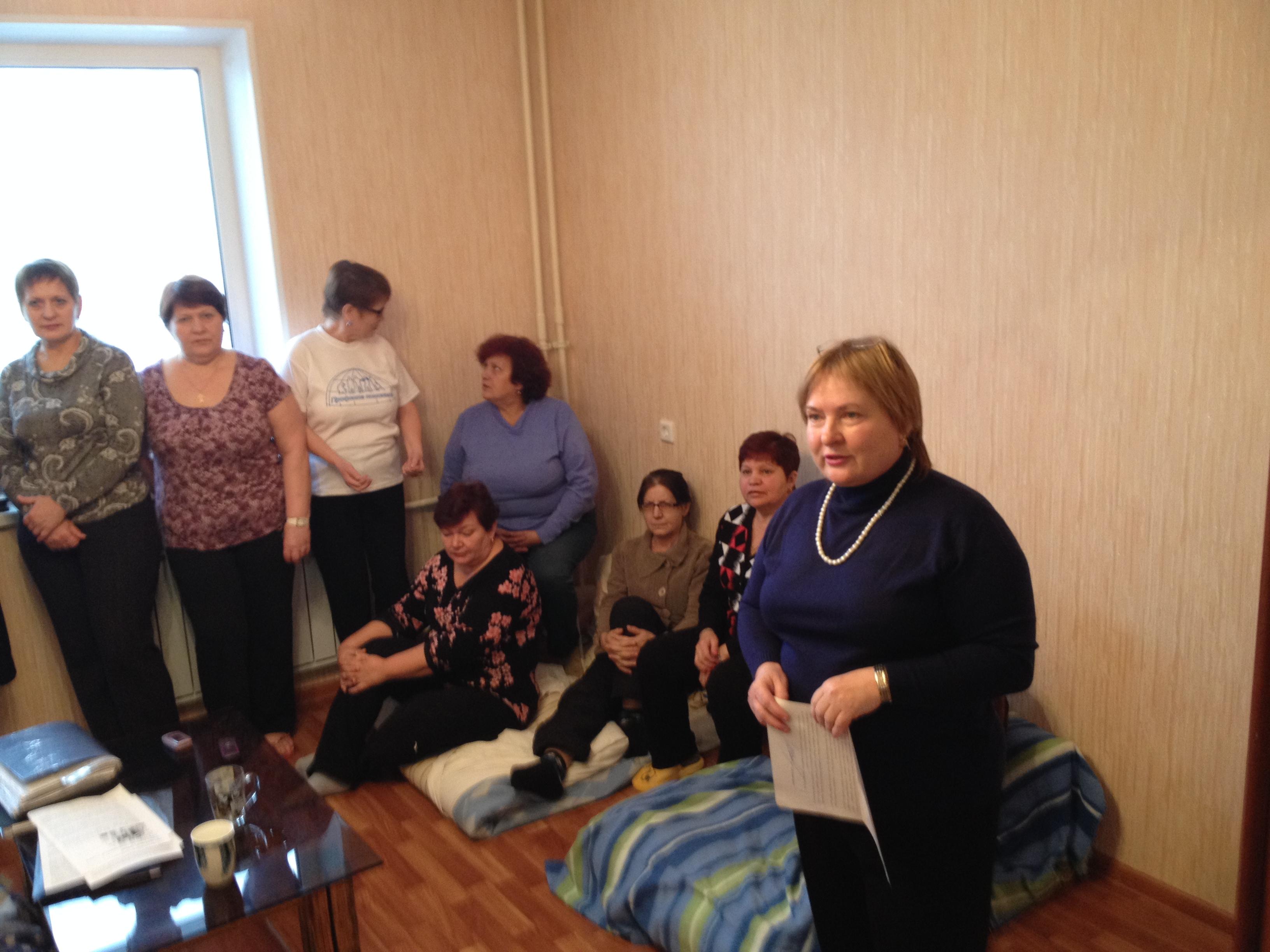 Штабом голодающих стала одна из квартир дома №43б на Копейском шоссе. Как рассказала корреспонден
