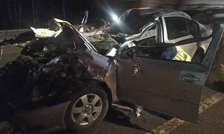 В Каслинском районе (Челябинская область) водитель иномарки врезался в грузовик. Он не выдержал б
