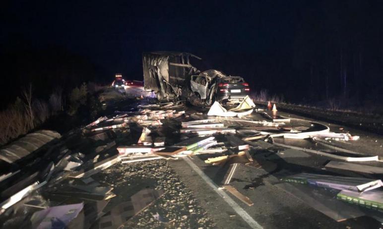 В Ханты-Мансийском автономном округе (ХМАО) автомобиль жителя Челябинской области попал в аварию,