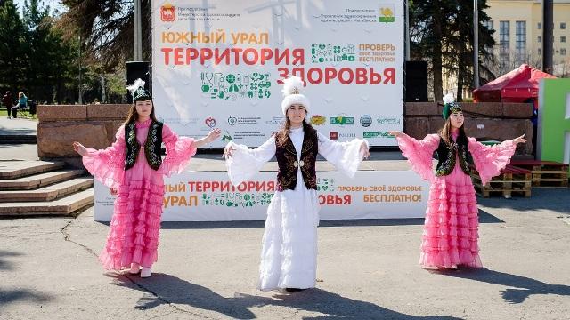 В Челябинске за прошедшие выходные на «Территории здоровья», расположившейся на площади Революции