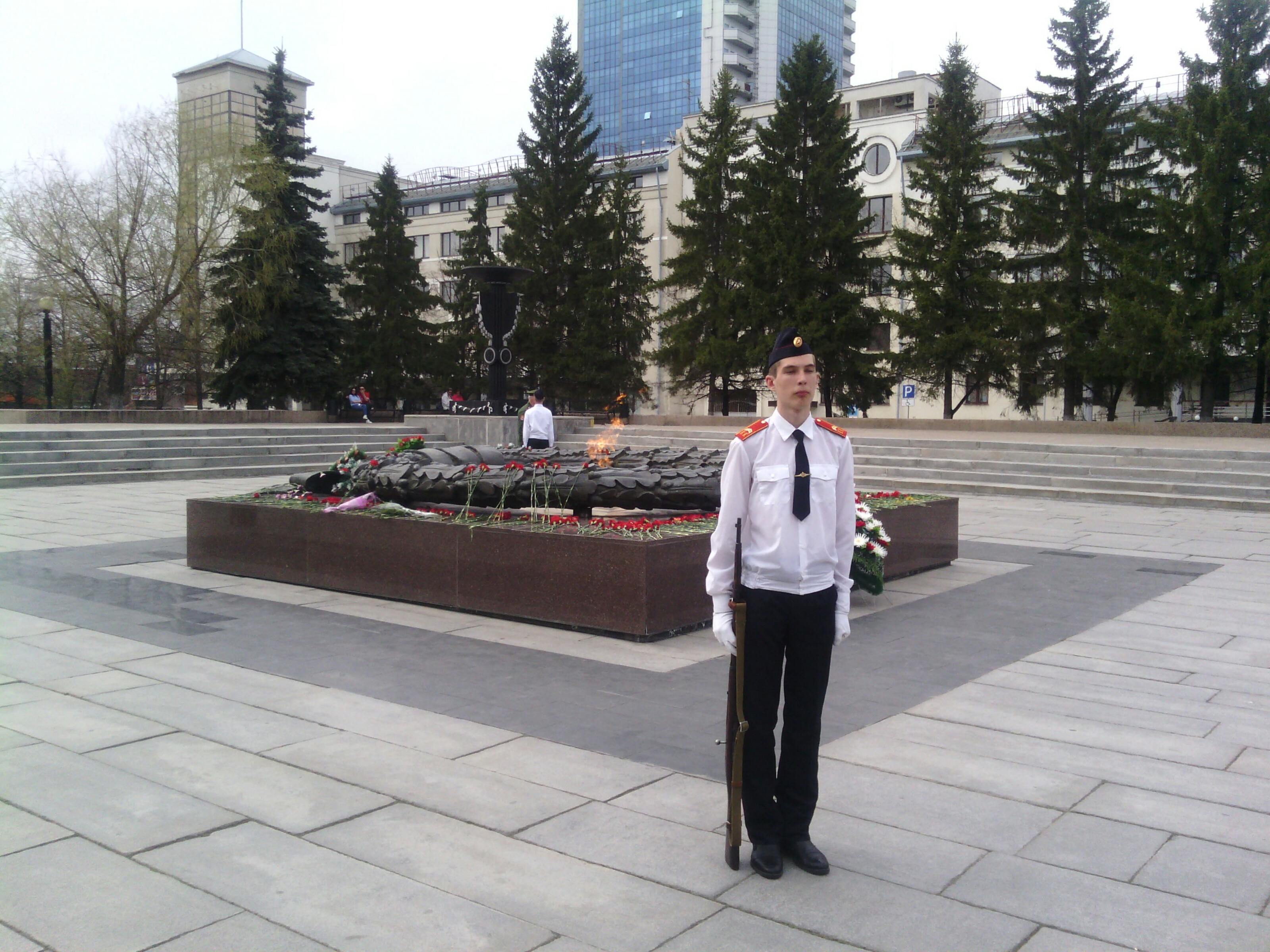 Юные челябинцы в преддверии 74-й годовщины Победы в Великой Отечественной войне заступили на Вахт