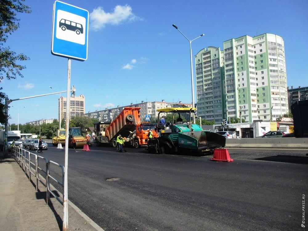 Челябинск готовится к саммитам ШОС и БРИКС. В областном центре продолжается ремонт дорог на госте