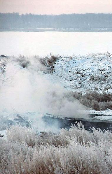 Общественники сообщают об увеличении площади эндогенных пожаров на хвостохранилище выработанных у