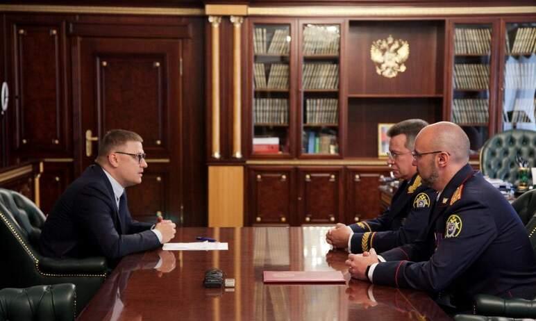 Губернатор Челябинской области Алексей Текслер провел встречу с новым начальником следственного у
