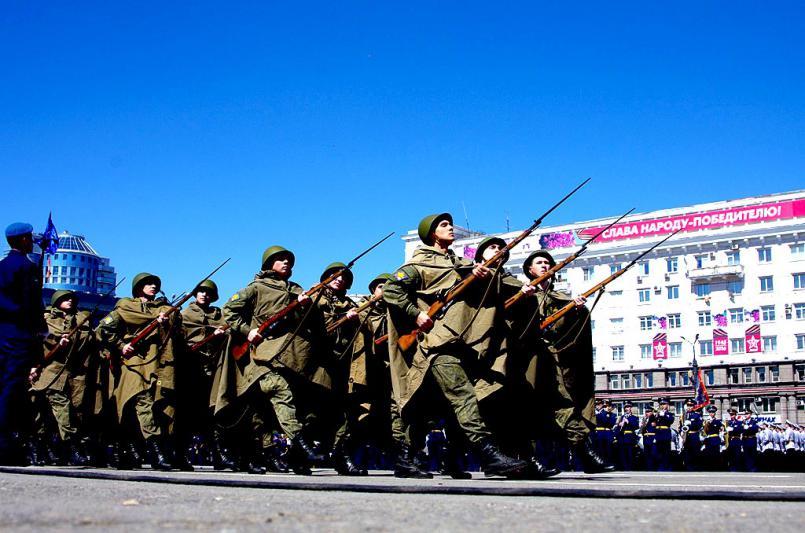 Погода в день Великой Победы была как на заказ - на небе ни одного облачка, ярко светило солнце,