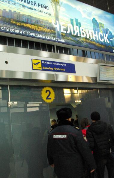 В аэропорту Челябинска имени Игоря Курчатова житель Санкт-Петербурга во время посадки на рейс раз