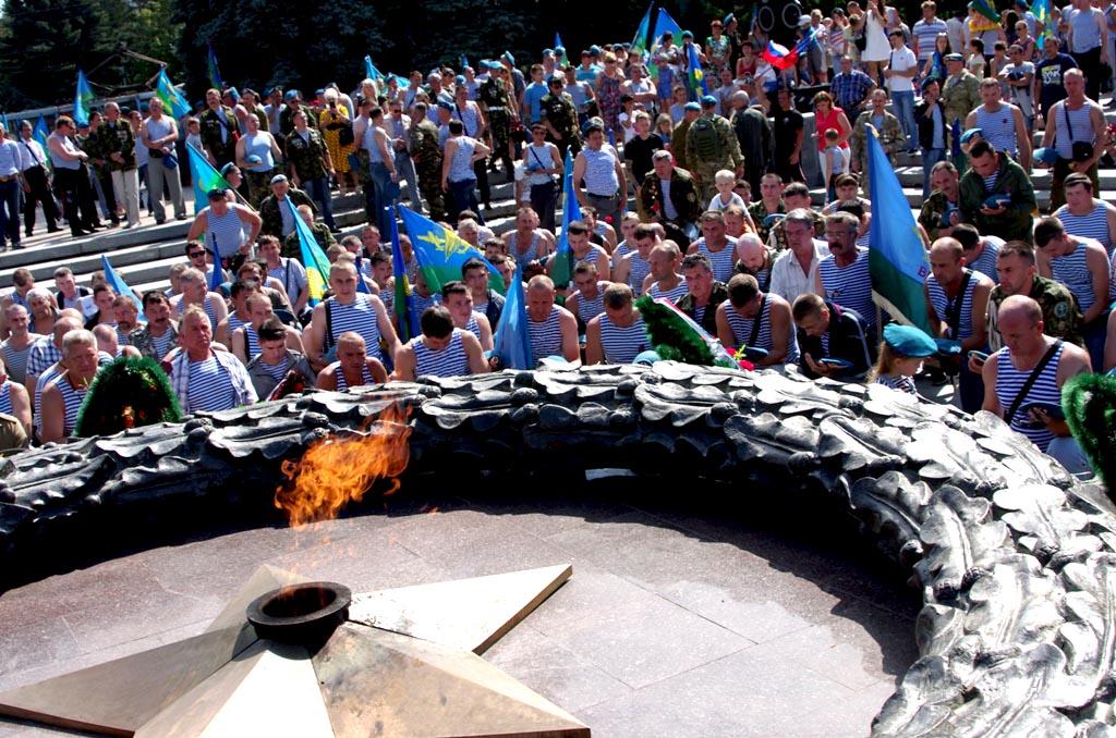 На празднике, организованном Союзом десантников России, присутствовали представители всех поколен