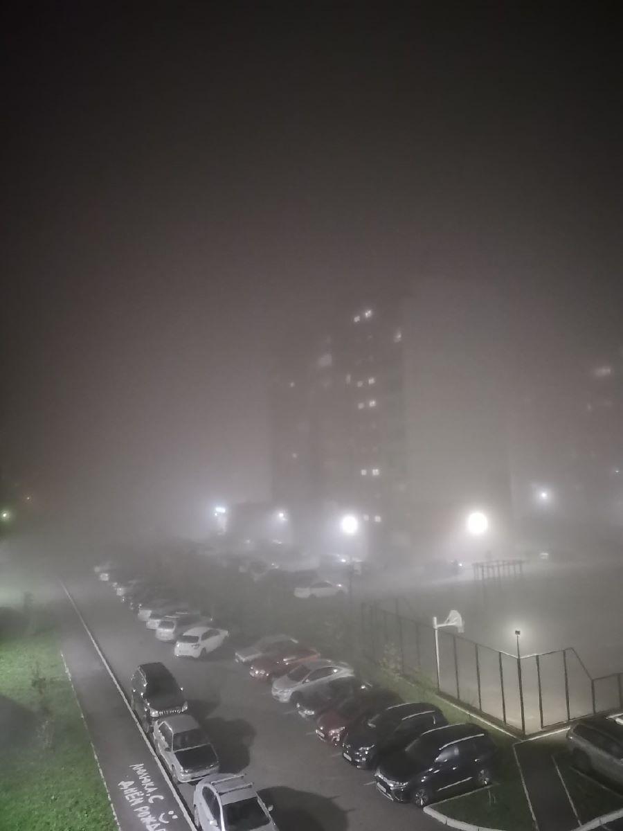 На спящий город опускается туман...