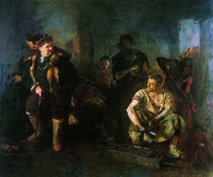 Картину Бориса Иогансона «На старом уральском заводе» знаю со школьных лет, она