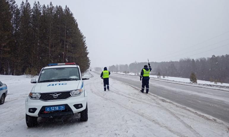 В случае ухудшения погодных условий ГИБДД Челябинской области готово вывести дополнительные экипа
