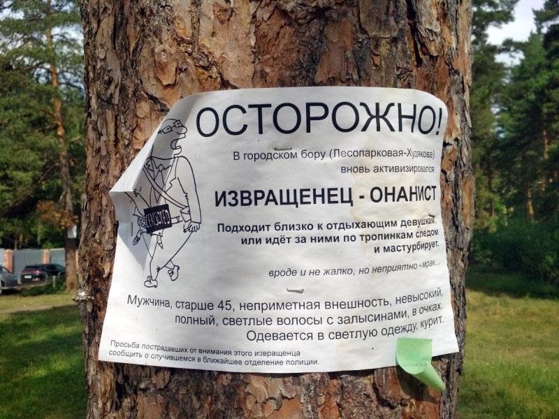 Челябинцы опасаются извращенца в Центральном парке культуры и отдыха имени Гагарина. Похож