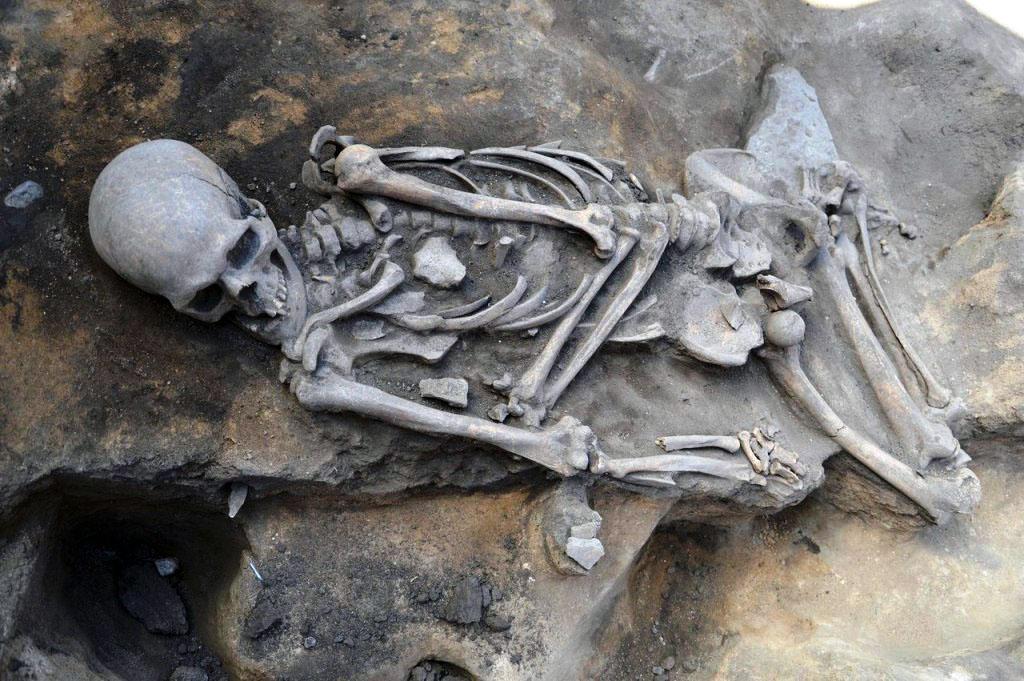 Неделю назад археологи исследовали стоянку каменного века, обнаружили в раскопе кости правой руки