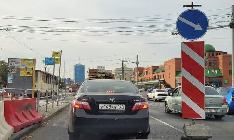 В Челябинске ограничено движение автомобилей по улицам Кирова (при движении в сторону проспекта П