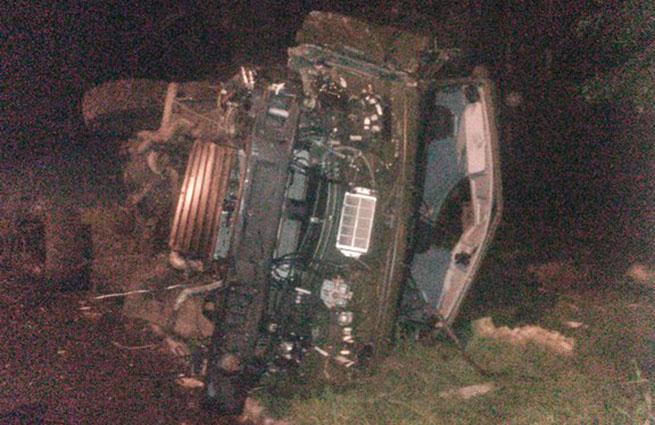 Как сообщает LifeNews, ополченцы заявили, что водителя грузовика возле завода